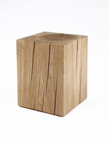 Solid Oak Cube Table by Rose Uniacke | Rose Uniacke