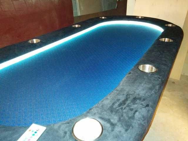 DIY Lighted Raised Rail Poker Table | Poker table, Diy, Poker