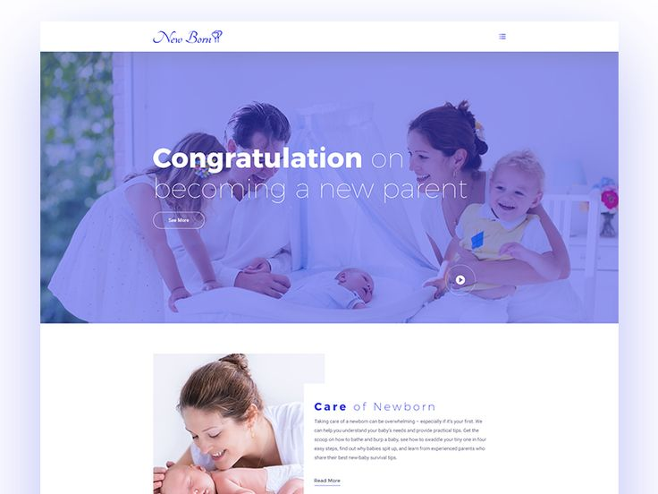 New Born Baby PSD Template  by Tauhid sajib