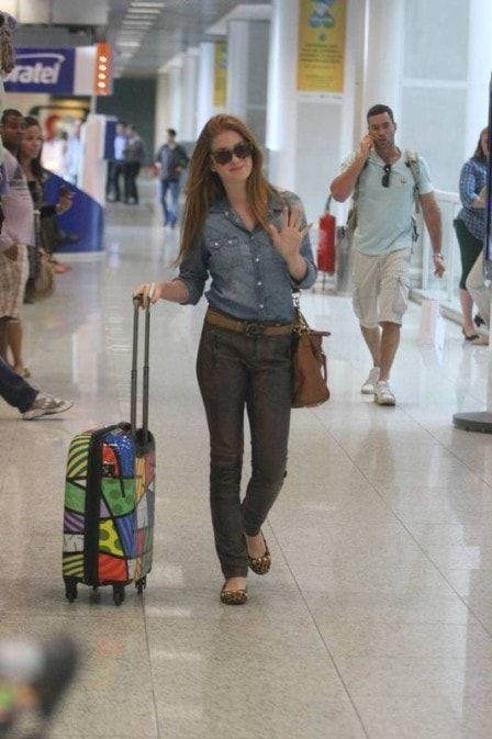 Veja looks de aeroporto de Marina Ruy Barbosa