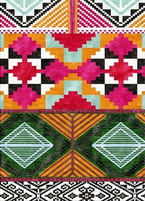 Graphic / Tesoro Multi wool and bamboo fibre handknotted rug, Inigo Elizalde)