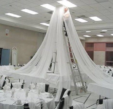 make your own wedding decorations wedding ceiling decor draping kits free flower tutorials 5645