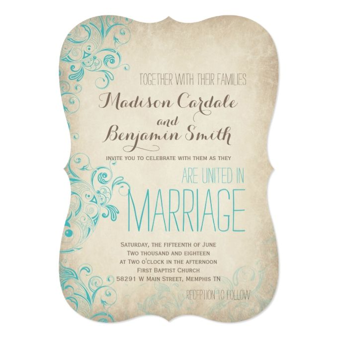 3878 best teal wedding invitations images on pinterest teal blue