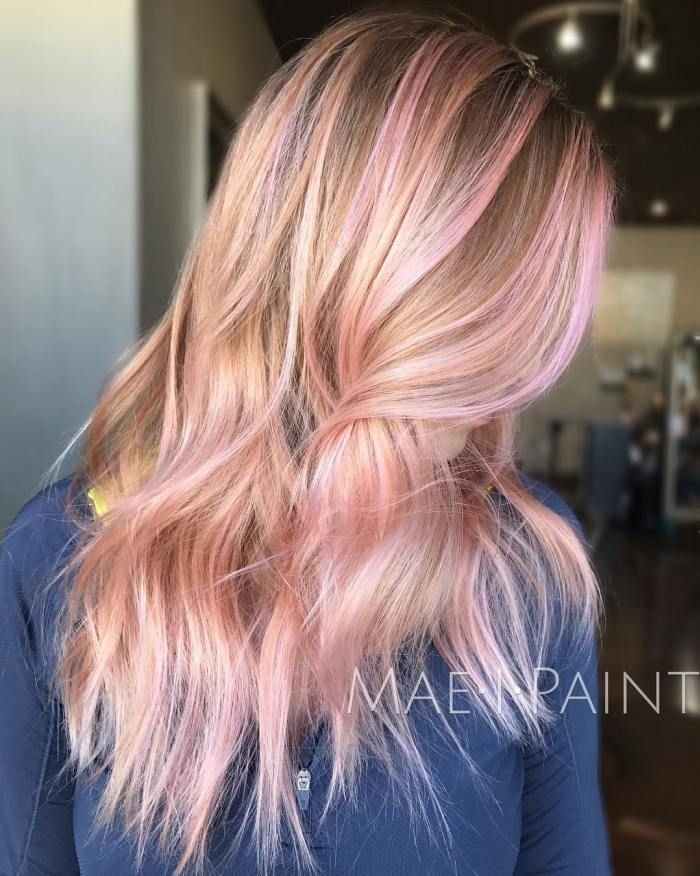 40 Ideas Of Pink Highlights For Major Inspiration Pink Hair Highlights Pink Blonde Hair Blonde Hair With Pink Highlights