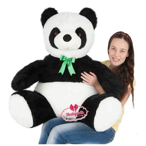 Peluş Oyuncak Panda 80 Cm Büyük Oturan Papyonlu Panda