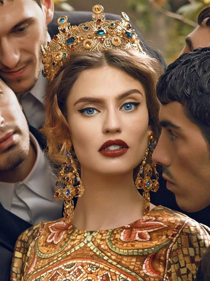 Italian model Bianca Balti in Dolce & Gabbana's Fall 2013 ad campaign that was photographed by designer Domenico Dolce.