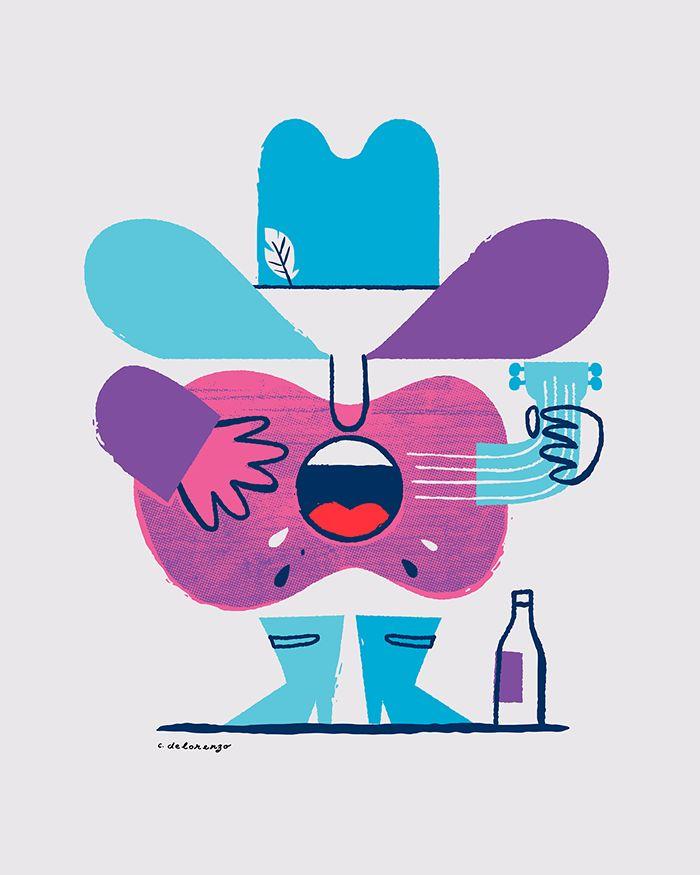 Chris DeLorenzo – www.chrisdelorenzo.com #illustration #character #guitar #beard #colorsheme