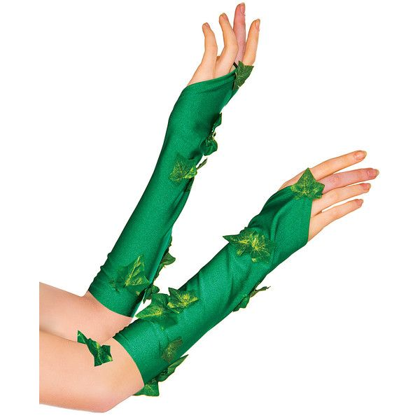 DC COMICS Green Poison Ivy Gloveletts ($7.99) ❤ liked on Polyvore featuring…