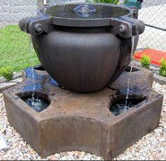 grc fountain in burnt umber