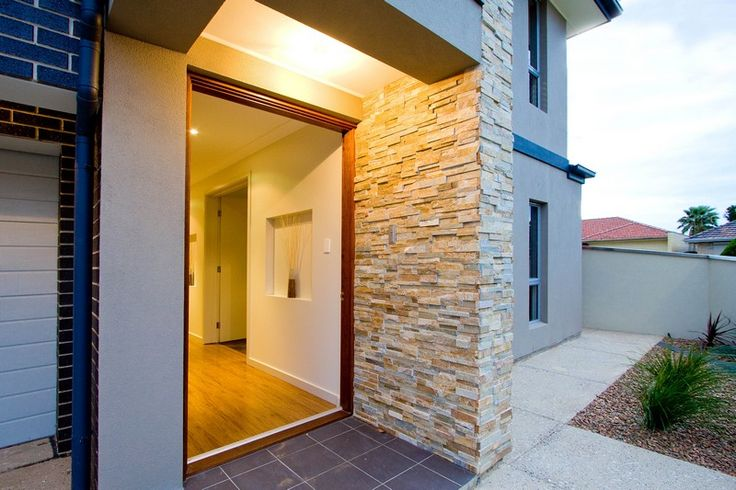 Rock entry wall   #adelaide #house #realestate #rock #entry #door