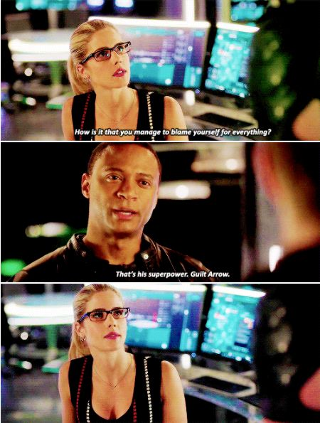 Arrow - Felicity & Diggle #4.12 #Season4 Guilt Arrow :)