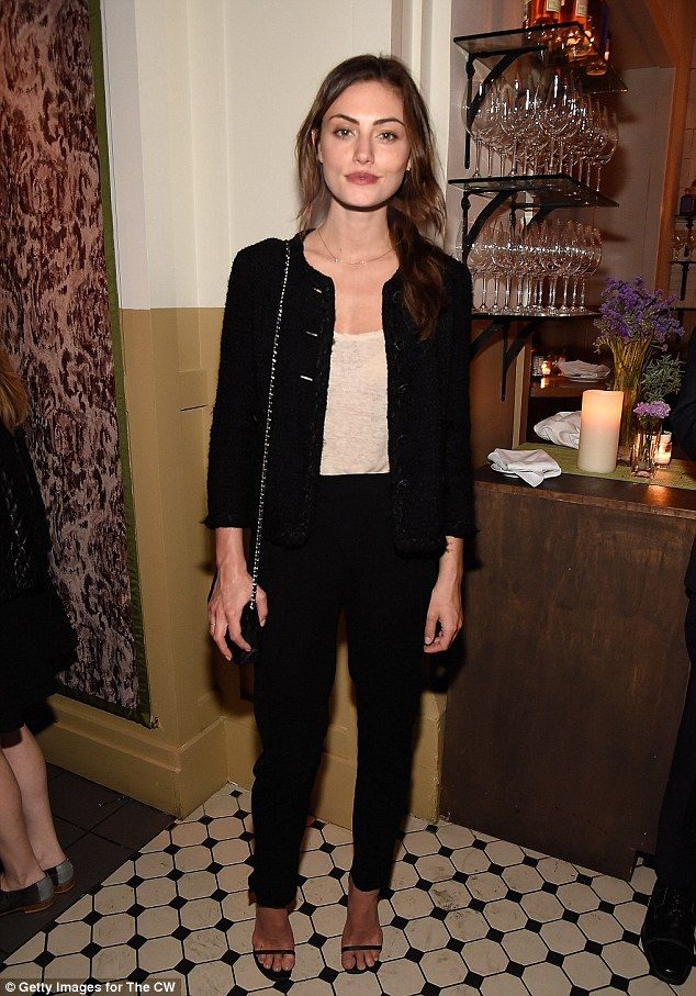 All dressed up: Phoebe Tonkin was certainly dressed to impress when she attended The CW Ne...
