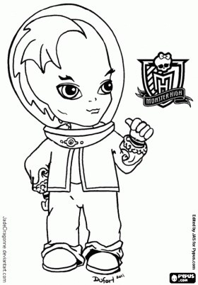 baby gil printable coloring sheet from jadedragonne at deviant art - Monster High Chibi Coloring Pages