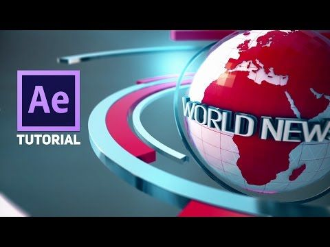 Adobe After Effects 3D Broadcast News Open Tutorial   Element 3D - YouTube