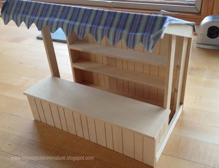 My Projects In Miniature: Miniature Christmas Market Stall Preparation