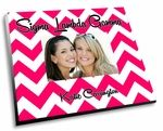 """The Sigma Lambda Gamma Chevron Picture Frame! These adorable sorority picture frames come in vibrant full color and has your sorority name popping off the frame with vividness.  Each sorority picture frame measures 8""""x10"""" and fits 4x6 photos."""