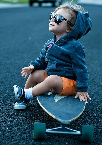 hoping that if I have kids, they're half as rad as this little grom.