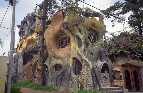 The Crazy House (a hotel) by upyernoz, via Flickr.: Vietnam Travel, Trees Houses, Crazy Houses, Tree Houses, Treehouse, Trees Home, Guest Houses, Unusual Houses, Hotels