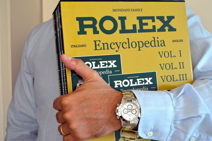 #wristshot with Rolex Encycloepdia