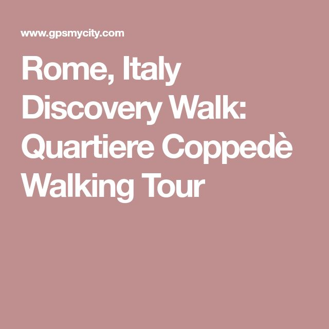 Rome, Italy Discovery Walk: Quartiere Coppedè Walking Tour