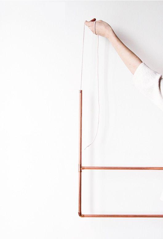 #diy copper clothing rack | sfgirlbybay