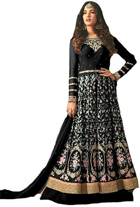 bad550a73f ziya Ready Made Indian/Pakistani Designer Indian Anarkali Wear Salwar Kameez  Maisha (Black, XS-36) at Amazon Women's Clothing store: