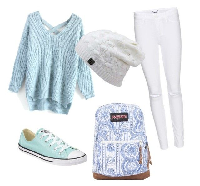 """""""Winter chills❄️"""" by tohot4u on Polyvore featuring Paige Denim, Chicwish, Converse and JanSport"""