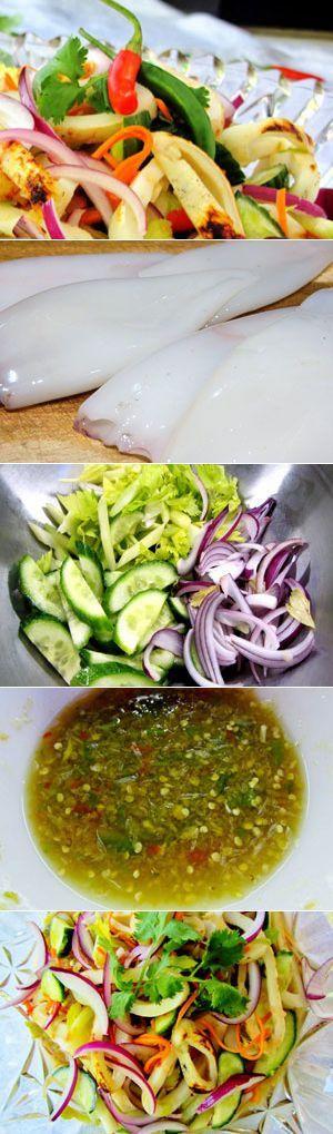 Теплый салат с кальмарами / Салаты из морепродуктов / TVCook: пошаговые рецепты с фото