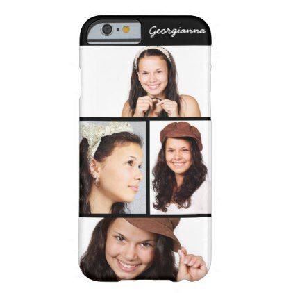 Cute 4 Photo Personalized iPhone 6 6s Case - kids kid child gift idea diy personalize design