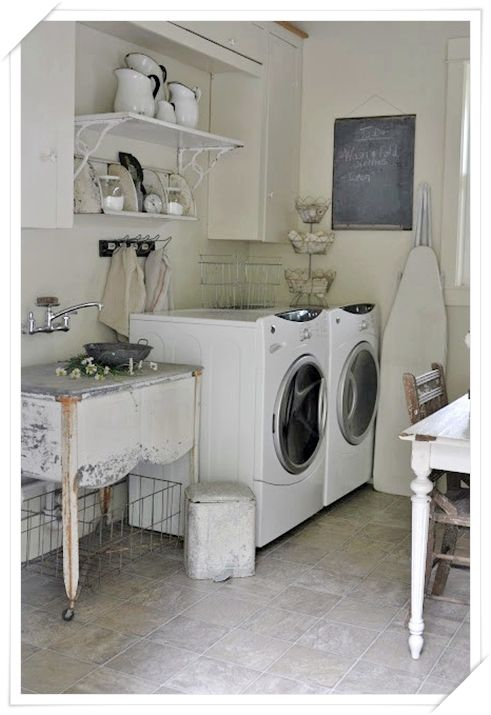 idee arredo lavanderia shabby chic - ideas for shabby chic laundry