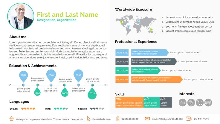 Smart Resume by RENURE on @creativemarket