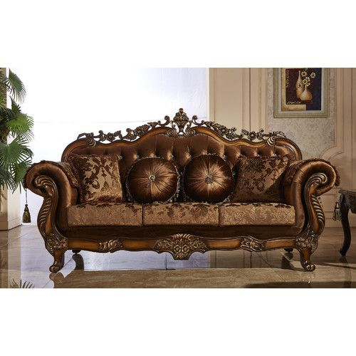 Meridian Furniture Inc Napoli Sofa With Accent Pillows Sweet Touches And Ont French Provincial Design Make The