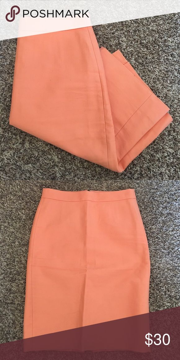 Number 2 pencil skirt by JCrew Jcrew pencil skirt in peach! Size 0 and looks great with a tan! J. Crew Skirts Pencil