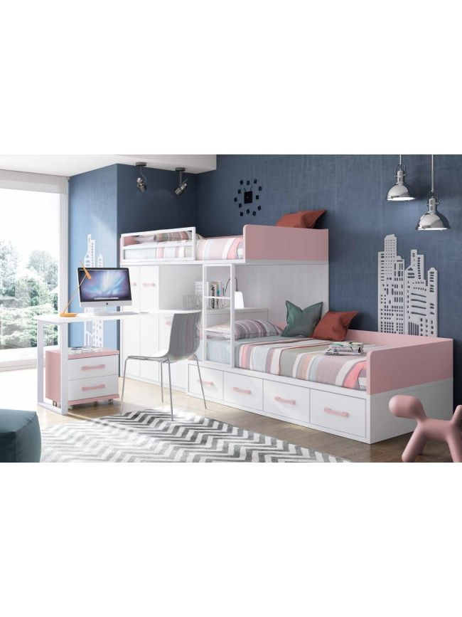 les 25 meilleures id es concernant lit superpos fille sur pinterest lits superpos s de gar on. Black Bedroom Furniture Sets. Home Design Ideas