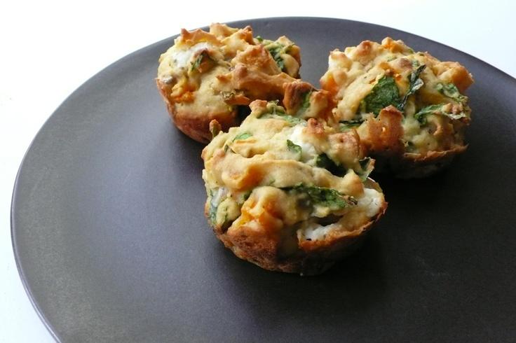 Feta Spinach Pumpkin Muffins