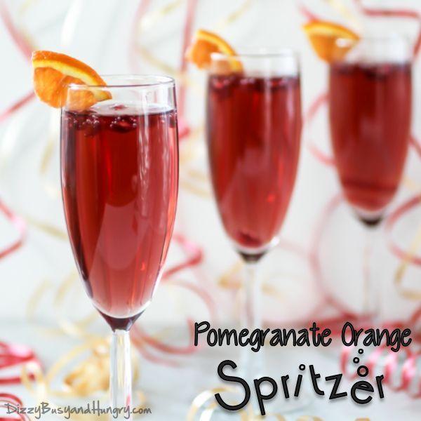 Pomegranate Orange Spritzer | DizzyBusyandHungry.com - Easy, delicious ...