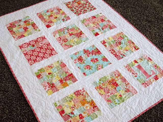 Moda Bake Shop: Marmalade Squares Quilt Made with a layer ...