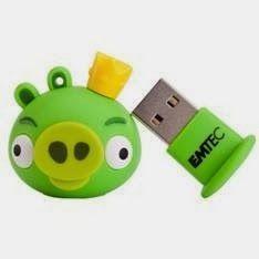 Servicios Informaticamipc: MEMORIA USB 8GB EN FORMA DE CERDITO KING VERDE LLA...