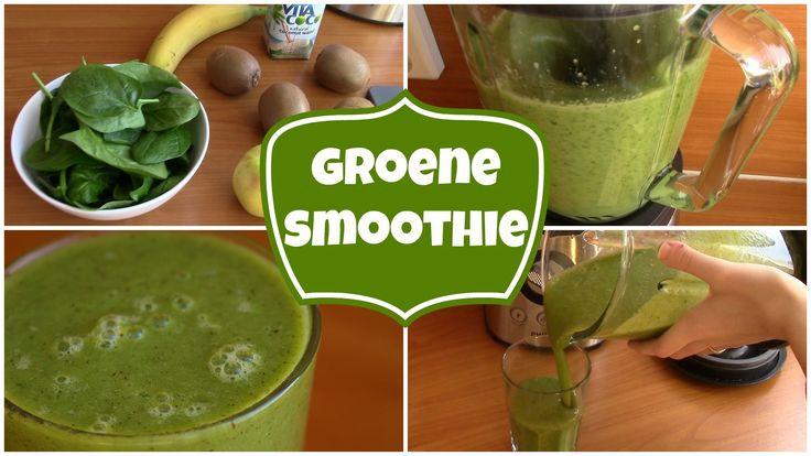 Groene smoothie recept met appel, kiwi, banaan en spinazie