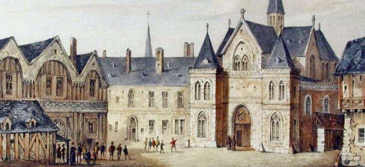 Collège de Sorbonne en 1550 | Fourquemin, Nousveaux (Edouard Auguste), Pernot (François Alexandre) via Wikimedia CC License by
