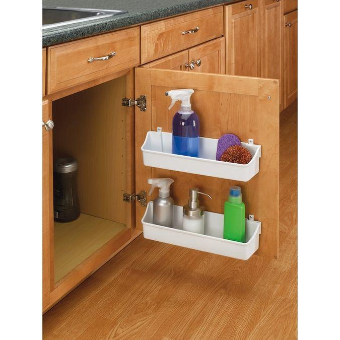 Rev A Shelf 7 875 In W X 3 56 In H 1 Tier Door Wall Mount Plastic Door Organizer Lowes Com Door Storage Rev A Shelf Kitchen Cabinet Doors