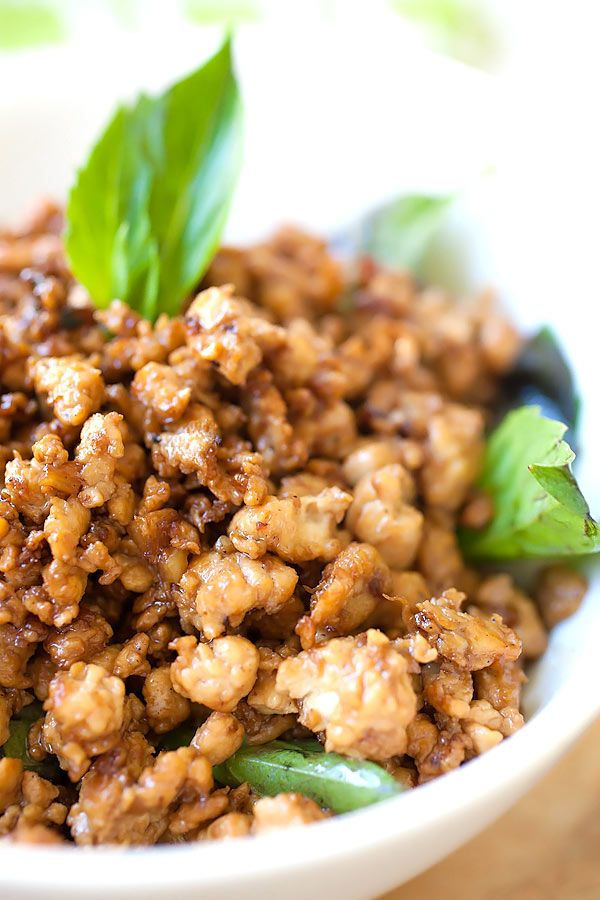 Basil Chicken (Gai Pad Krapow) | Recipe | Thai Basil Chicken, Basil ...