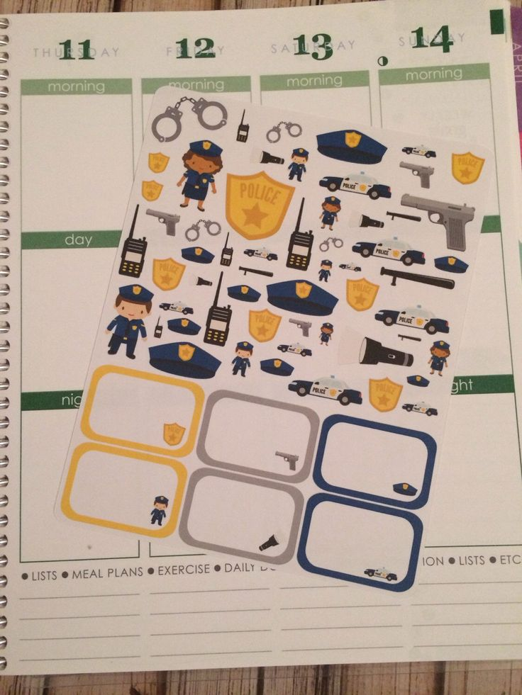 Police Sticker Set with Half Boxes, Police Planner Stickers, Police Stickers, Half Box Stickers, Work Planner Stickers, set of 64 by createdbydanielle1 on Etsy https://www.etsy.com/listing/216829934/police-sticker-set-with-half-boxes