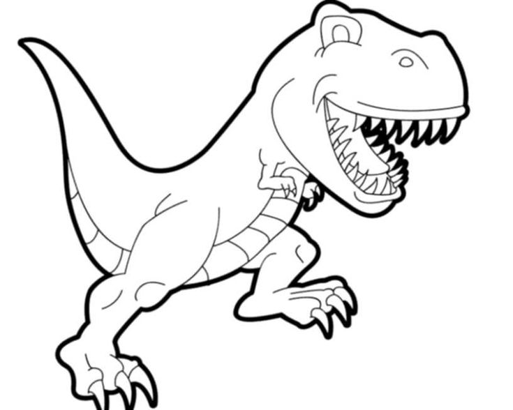 Baby T Rex Coloring Pages Kids Colouring Pages
