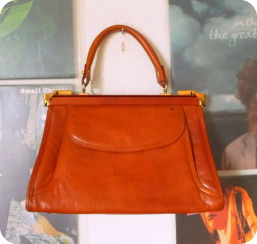 VINTAGE UNIKAT Tasche Schultertasche Leder 50er 60er Handtasche Henkeltasche Bag | eBay