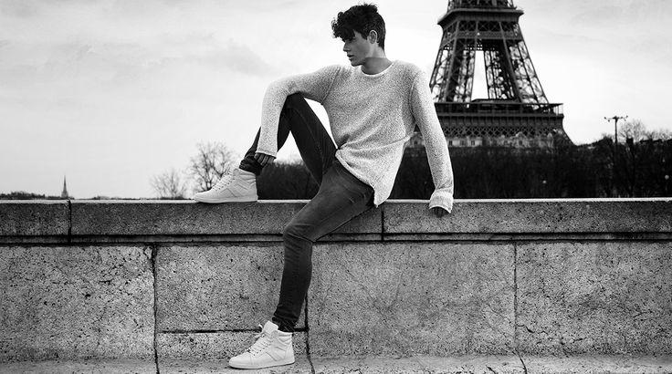 VO7 Newton Leather White #vo7 #vo7shoes #kotd #hightops #basketsmontantes #fashion #mode #homme #blacknwhite #photographie #noiretblanc #lifestyle #Paris #TourEiffel #Seine #streetchic #ootd
