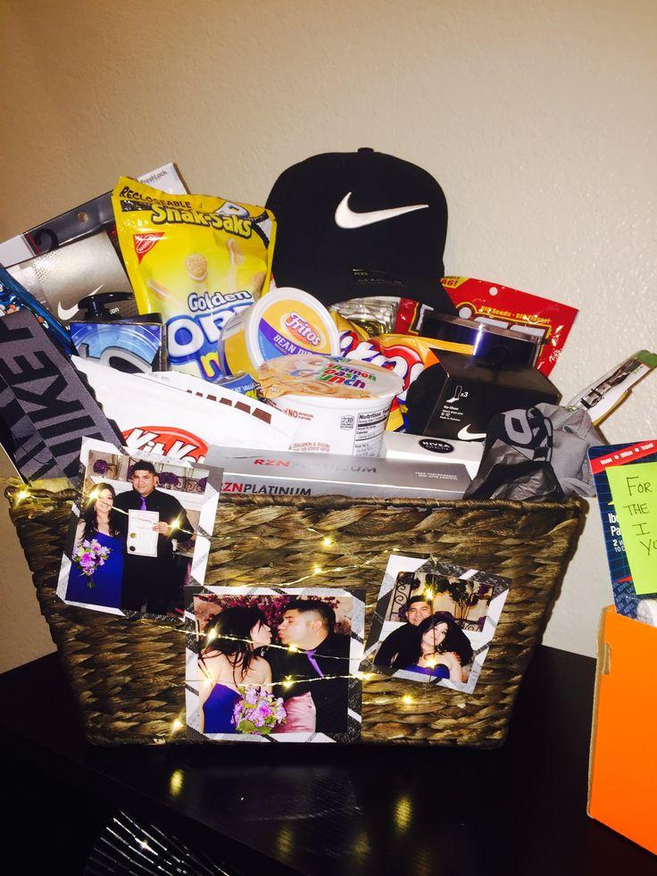 Anniversary gift basket i put together for my husband full