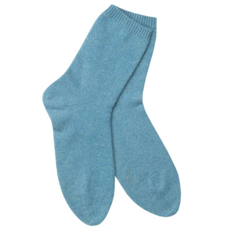 Ulla Cashmere Socks in Cardiff Turquoise | Arela