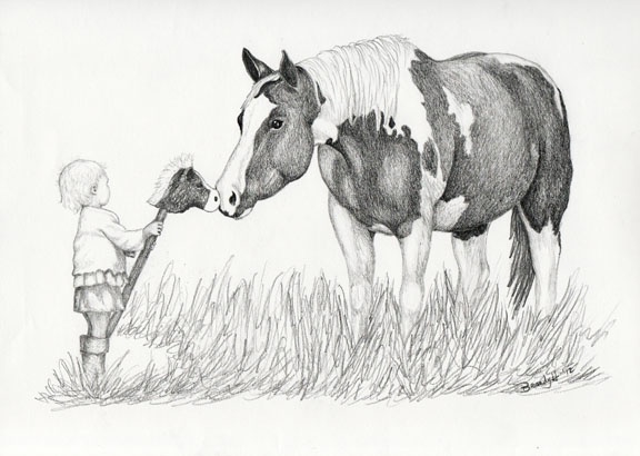 A Horse of Course is in pencil