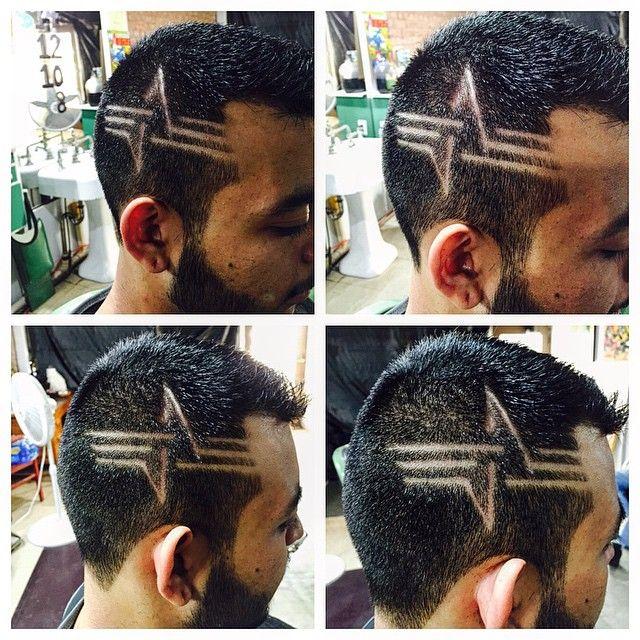 New design today #jjsbarbershop #SWAG #haircut #hairtattoos #fresh #freshcuts…
